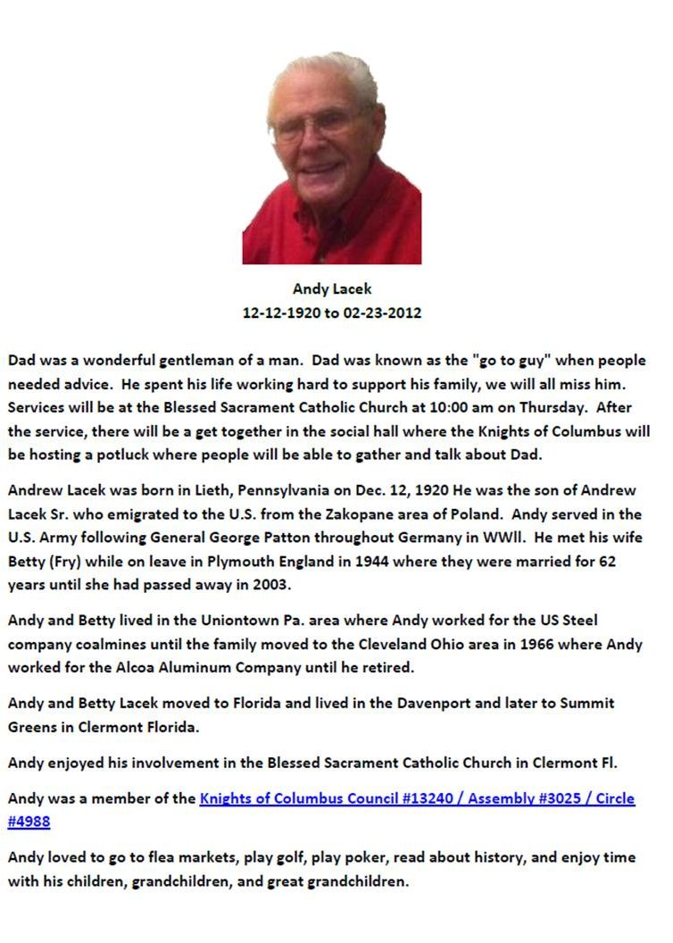 Andy Lacek Memorial
