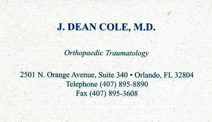 J. Dean Cole, MD