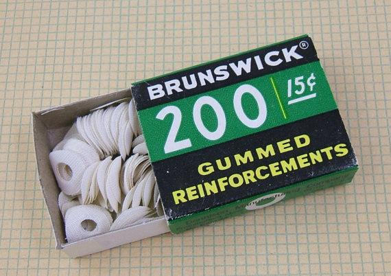 gummed reinforcement stickers