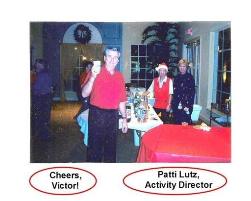 21 Secret Santa Dec 13 2002 Victor, Resident & Patty Lutz, Activity Director