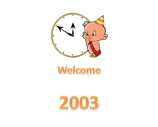 53 Welcome 2003 1-1-2003