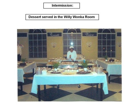 55 Dessert Served in Willy Wonka Room