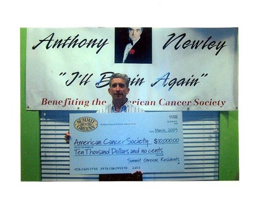 59 Ed with check of $10,000 to Cancer Society